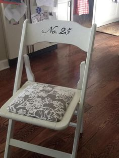Cute re-do of a vintage wood folding chair