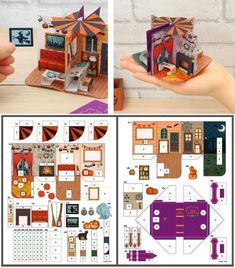 Paper Doll House, Paper Houses, Paper Dolls, Fun Crafts, Paper Crafts, Doll Crafts, Diy And Crafts, Paper Book, Paper Art