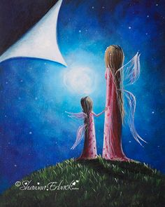 A Fairy's Child FANTASY ART PRINT mom and child  by shawnaerback, $15.00