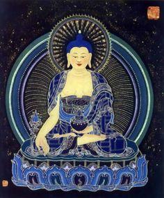".Bhaiṣajyaguru (भैषज्यगुरु), formally Bhaiṣajyaguruvaiḍūryaprabhārāja (भैषज्यगुरुवैडूर्यप्रभाराज, ""Medicine Master and King of Lapis Lazuli Light""), is the buddha of healing and medicine in Mahāyāna Buddhism. Commonly referred to as the ""Medicine Buddha"", he is described as a doctor who cures suffering using the medicine of his teachings."