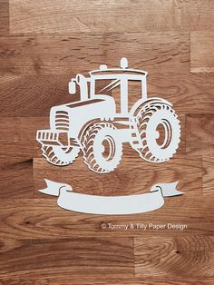 SVG / Pdf Tractor Design Papercutting Template Kids svg