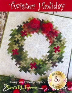 Twister HOLIDAY Wreath Quilt Kit designed by Becky Cogan for Need& Love using the Primitive Gatherings tools. Christmas Sewing, Noel Christmas, Christmas Crafts, Christmas Decorations, Christmas Quilting, Xmas, Holiday Quilt Patterns, Flick Flack, Twister Quilts