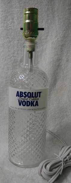 Hey, I found this really awesome Etsy listing at https://www.etsy.com/listing/211955519/absolut-vodka-bottle-lamp-elegant