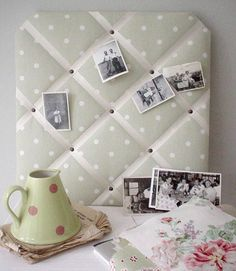 Have to make a fabric noticeboard like this one