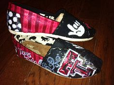 Texas Tech TOMS. Custom, hand painted TOMS!