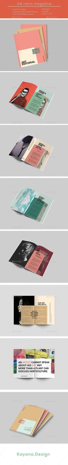 A4 Street Art Editorial Brochure