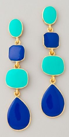 turquoise and cobalt-LOVE these colors together:)