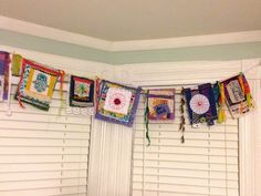 Jessica Sporn Designs: Stenciling and Stitching good technique to make prayer flags... close ups available on her blog