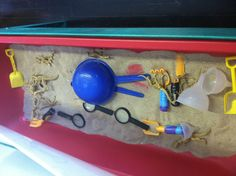 Dinosaur sensory table
