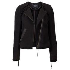 Designers Remix Sign Elsie weaved biker jacket ($470) ❤ liked on Polyvore