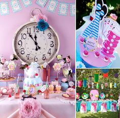 Found some cute Alice in Wonderland party ideas. Aren't these perfect for birthdays and baby showers.