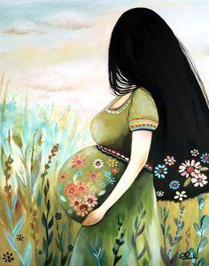 Art femme enceinte imprimé