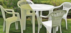 Redonner la blancheur d'origine aux tables et chaises de jardin. Astuce de grand-mère pour déjaunir son mobilier de jardin en plastique blanc