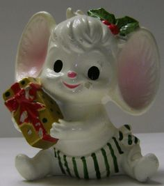 Adorable Christmas Mouse Bank by theevintageshop on Etsy, $3.00