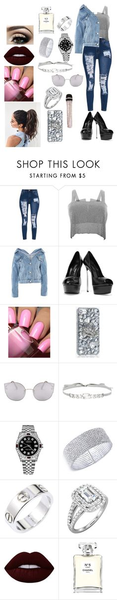 """""""Rock it baby !!!"""" by jazmin-576 on Polyvore featuring moda, Topshop, Casadei, Jenny Packham, Rolex, Anne Klein, Cartier, Lime Crime y Chanel"""