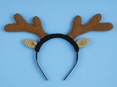 Reindeer Antlers crochet pattern  for a costume headband