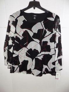 816c0dbbe08 WTC4248 Alfani Women's Plus Printed Bubble Hem Top NWT Size 1X MSRP $75  #fashion #