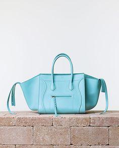 Céline, Summer 2014, Luggage Phantom Handbag Nappa Calfskin Azur   blue