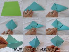 ctbaker in the acres: 14 Lovely Days: Day 2..........making corner origami bookmarks