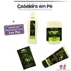 Condicionador, Máscara Banho de Creme, Sachê Tratamento de Choque e Finalizador Pós Química (Abacate e Jojoba) - Bio Extratus (Liberados para Low Poo -  Shampoo Leve)