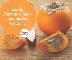 Aproveite as frutas da estação! O caqui é uma delas! Por ser uma fonte de fibras ele é ótimo para a saúde, auxiliando na perda de peso. #dicaCampesí