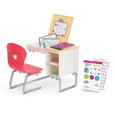 American Girl -Flip-Top Desk for Dolls - Truly Me 2015 * Want additional info? Click on the image.