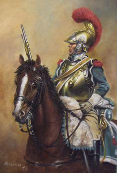 Le cheval triste. Carabinier a cheval del II Reggimento, uniforme da campagna e combattimento a partire dal 1813.