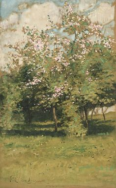 Childe Hassam - Blossoming Trees 1882