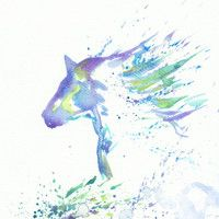 watercolor horse tattoo, how cool would this be?
