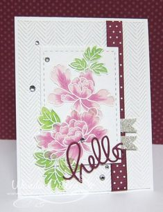 Peony Scrolls by cullenwr - Cards and Paper Crafts at Splitcoaststampers