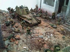 1/35 diorama Waffen SS panzer div, in France 1944, by ademodelart