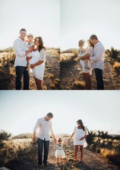 The sweetest family maternity photos in the desert! <3