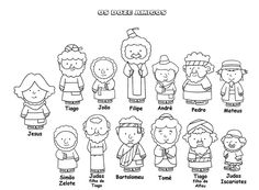 os doze discipulos para crianças evangelicas - Pesquisa Google