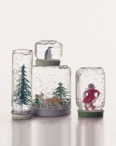 How to make your own snow globes. We did this with cubscouts, could do with the girls too.