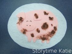"""So, I did a felt version of Mel's Clean and Dirty Pigs for this Flannel Friday! Her clip art file is here, and the blog post for """"Messy and Clean"""" storytime is here. A big thanks …"""