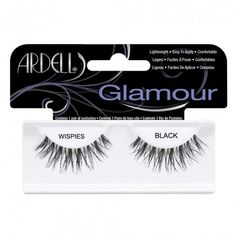 Ardell Ardell Glamour Wispies Lashes in Black 1 Pair ❤ liked on Polyvore featuring beauty products, makeup, eye makeup, false eyelashes, ardell fake eyelashes, ardell false eyelashes and ardell