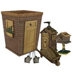 Aren't these a riot for your bathroom?   Outhouses Bath Accessories by Linda Spivey   These rustic country bath accessories add some humor to the bathroom.