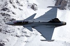 Saab JAS 39 Gripen - a Light Single Engine Multi-Role Fighter Aircraft has a Delta Wing, a Canard and Fly-by-Wire Flight Controls 247 Built Fighter Aircraft, Fighter Jets, Saab Jas 39 Gripen, Swedish Air Force, Delta Wing, Swiss Air, Air Machine, Jet Plane, Military Aircraft