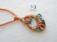 Virginite Mariposite Emerald Quartz Copper Viking Knit Necklace Aurara Borealis Stone Knitted Necklace, Rope Necklace, Wire Earrings, Copper Jewelry, Wire Jewelry, Handmade Jewelry, Copper Wire, Wire Wrapped Rings, Wire Wrapped Pendant