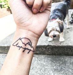 It will get better... KEEP GOING ♥️ #tattoo #tattoos #littletattoos #keepgoing