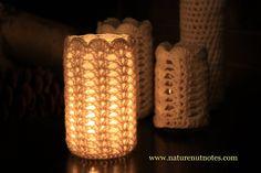 Jam jar covers for tea lights - tutorial