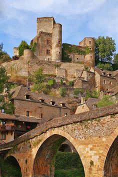 Château de Belcastel is a medieval castle in the village of Belcastel, Aveyron, France #travel