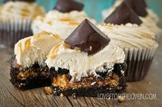 Caramel Chocolate Chip Cookie Stuffed Brownie Cupcakes With Cookie Dough Frosting