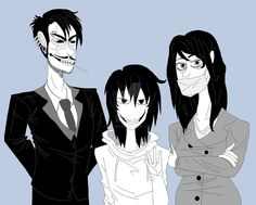 Jeff's Real Family by Leaved on DeviantArt ichi the killer is Jeff's father and the slit mouth woman is his mother :3