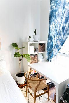 desk in a bedroom