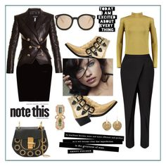 """""""Note this...."""" by zabead ❤ liked on Polyvore featuring Boohoo, Chloé, WALL, Toga, Jigsaw, Balmain, Karen Walker, DuÅ¡an, Annette Ferdinandsen and Wendy Yue"""
