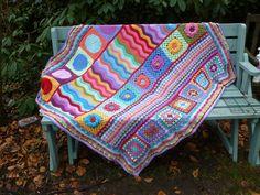 Ravelry: Crochet-Julie's Groovyghan - crochet sampler blanket