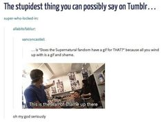 Definitive Proof That The 'Supernatural' Fandom Has A GIF For Everything