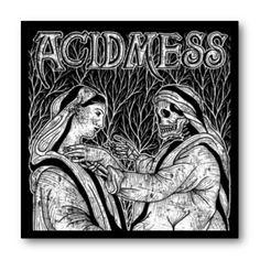 Cuadro con marco negro de aluminio para disco de vinilo / Acid Mess - Madre Muerte / #AcidMess