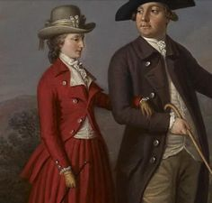 detail of James Hunter Blair with his wife and family by David Allan. 18th Century Clothing, 18th Century Fashion, Riding Habit, Culture Clothing, 18th Century Costume, Hunting Clothes, Types Of Dresses, Fashion History, Playing Dress Up